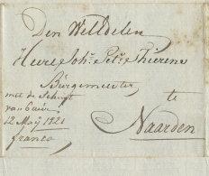 "1821 ,,franco"" Bfhülle N.Naarden - Niederlande"