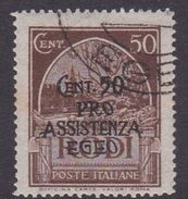 Italy-Colonies And Territories-Aegean General Issue-Rodi S123 1943 Pro Assistenza Egeo,50c+50c Dark Brown, Used - Italy