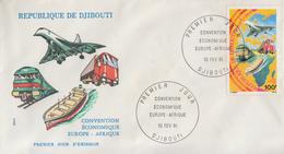 Enveloppe  FDC  1er  Jour   DJIBOUTI    Convention  Economique  EUROPE - AFRIQUE   1981 - Djibouti (1977-...)