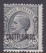 Italy-Colonies And Territories-Castelrosso S3 1922 15c Slate MNH - Italië