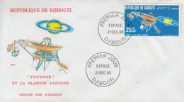 Enveloppe  FDC  1er  Jour    REPUBLIQUE   De   DJIBOUTI    ESPACE    1980 - Djibouti (1977-...)