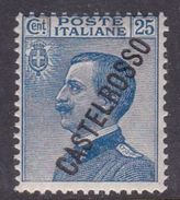 Italy-Colonies And Territories-Castelrosso S19 1924 25c Blue MNH - Italy