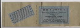 Carnet De 25 Chèques 4 Tirés Credit Lyonnais Nimes 1914 - Cheques & Traveler's Cheques