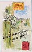 Publicité Sur Carte Postale - ''Shell'' Motor Spirit - Votes For Women ! (1) - Publicité