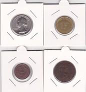 4 Pièces Divers Voir Détail - Réf X18 - Monnaies
