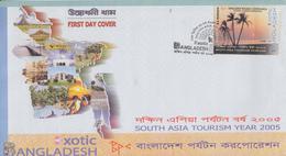 Enveloppe  FDC  1er  Jour   BANGLADESH    Tourisme   2005 - Bangladesh