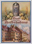 Publicité Sur Carte Postale - ''Hofbräuhaus'' (München) (Circulé En 1955) - Publicité