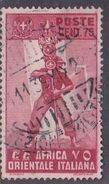 Italy-Colonies And Territories-Italian Eastern Africa S11 1938 75c Carmine Used - Amtliche Ausgaben
