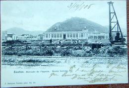BRESIL  BRASIL SANTOS MECATO DO PAQUETA MONTE SERRATE  VOYAGE 1905 TIMBRE ET CACHET - Brésil
