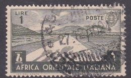 Italy-Colonies And Territories-Italian Eastern Africa S12 1938  1 Lira Green Olive Used - Italië