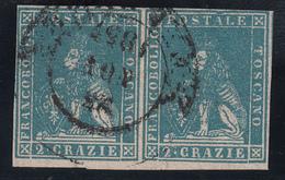 Toscana - 2 Crazie In Coppia Sass. 13 (cornice Deformata Sul Secondo Esemplare) - Toscana