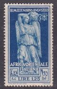 Italy-Colonies And Territories-Italian Eastern Africa S26 1938 Bimillenary Of The Birth Of Augustus 1,25 Lira Deep Blue - Italy