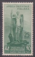 Italy-Colonies And Territories-Italian Eastern Africa S29 1940 First Triennial Overseas Exposition 25c Green MH - Emissions Générales