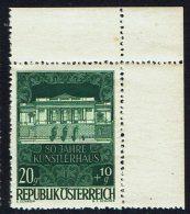 """Österreich, """"  80 Jahre Künstlerhaus, Wien"""" , MiNr 878 ** - 1945-60 Neufs"""