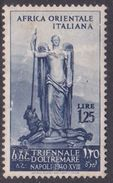 Italy-Colonies And Territories-Italian Eastern Africa S32 1940 First Triennial Overseas Exposition 1,25 Lira MH - Emissions Générales