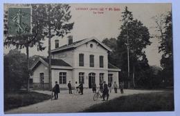 10 : Lusigny - La Gare - Animée - (n°8628) - Francia