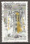 FRANCE   -   1996 .  Y&T N° 3022 Oblitéré  Cachet Rond.   Basilique N-D  De Fourvière à Lyon. - Frankreich