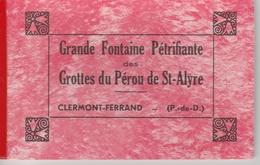"""17 / 8 / 53    -  Carnet   6  CPSM  """" GRANDE  FONTAINE  PÉTRIFIANTE  Des Grottes  Du  PÉROU DE ST. ALYRE - Cartes Postales"""