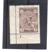 NEU67 TSCHECHOSLOWAKEI CSSR 1929  MICHL 287  Mit RANDZAHL 1 (*) FALZ SIEHE ABBILDUNG - Tschechoslowakei/CSSR