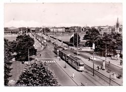 4000 DÜSSELDORF - OBERKASSEL, Lueg-Platz, Rheinbrücke, Strassenbahn, 1958 - Duesseldorf