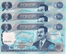 IRAQ 100 DINARS 1994 P-84b UNC 3 PCS [IQ340c] - Iraq