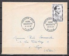 FRANCE 1092 FDC 18/05/1957 Pierre BROSSOLETTE - FDC