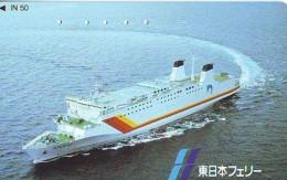 Télécarte JAPON * BATEAU * PHONECARD JAPAN * SHIP (1548) TK *    *  SCHIFF * Schip - Boot - Barco - Schiffe