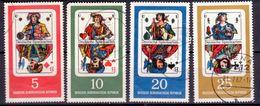 DDR 1967, Mi.Nr. 1298-1301, Deutsche Spielkarten, Gestempelt (741) - Usati