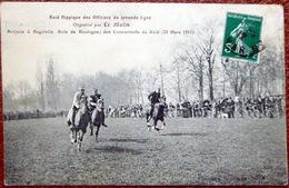 COURSE DE CHEVAUX RAID HIPPIQUE DES OFFICIERS DE SECONDE LIGNE  ARRIVEE A BAGATELLE CHAMPS DE COURSE TIERCE - Horse Show