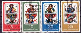 DDR 1967, Mi.Nr. 1298-1301, Deutsche Spielkarten, Gestempelt (742) - Usati