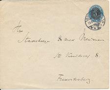 Denmark Postal Stationery Cover 5/4 öre Copenhagen 15-6-1904 - Entiers Postaux