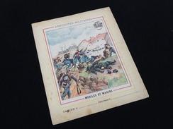 Ancien Protège-cahier Illustré Anecdotes Militaires Mobiles Et Marins - Protège-cahiers