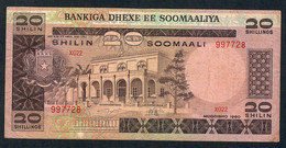 SOMALIA P27 20 SHILIN  1980  VG-F Minor Tear In Corner & Tape (lower Right ) - Somalia