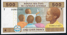C.A.S. CONGO P106Ta 500 FRANCS 2002 FIRST SIGNATURE # 5 AU-UNC - Central African States