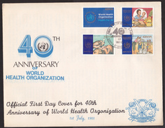 Kc_ Kenia - Mi.Nr. 443 - 446 - Ersttagsbrief FDC -  WHO - Kenya (1963-...)