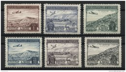 ALBANIA, AIRPOST / LANDSCAPES FULL SET 1950 NH - Albanie
