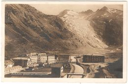 Gletsch - Furkabahn - Gletsch Mit Rhonegletscher - Fotokarte - VS Valais