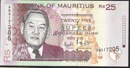 MAURITIUS P49a 25 RUPEES  1999   AUNC - Maurice