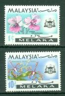 Malaya - Malacca: 1970   Flowers  SG68-69  1c And 10c  [Wmk Sideways]    MNH - Malacca