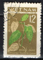 VIETNAM DEL NORD - 1963 - Fibraurea Tinctoria - USATO - Vietnam