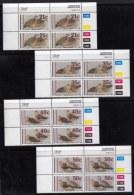 BOPHUTHATSWANA, 1990, Mint Never Hinges Stamps In Control Blocks, MI 239-242, Sand Grouses, X454 - Bophuthatswana