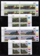 BOPHUTHATSWANA, 1993, Mint Never Hinges Stamps In Control Blocks, MI 298-301, X468, Trains - Bophuthatswana