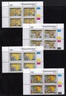 BOPHUTHATSWANA, 1993, Mint Never Hinges Stamps In Control Blocks, MI 303-306, X469, Old Maps - Bophuthatswana