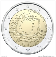 """Pièce 2 Euros Commémorative  UNC  Irlande  """"  Drapeau Européen  """" - Ierland"""