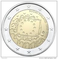 """Pièce 2 Euros Commémorative  UNC Autriche """"  Drapeau Européen  """" - Autriche"""