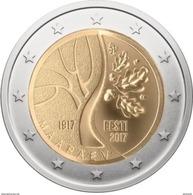 """Pièce  Commémorative 2 Euro Estonie  2017 UNC  """"  Estonie Vers L' Indépendance """" - Estland"""