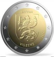 """Pièce Commémorative 2 Euro Lettonie  2016 """" Vidzeme """" - Lettonie"""