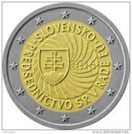 """Pièce 2 Euros Commémorative  UNC  Slovaquie 2016  """"  Présidence Européenne  """" - Slovaquie"""