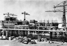 68-FESSENHEIM- CHUTE DE FESSENHEIM- USINE EN CONSTRUCTION VUE DE L'AVAL - Fessenheim