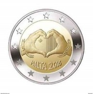 "Pièce Commémorative 2 Euro Malte 2016 ""  Love, Amour"" - Malta"